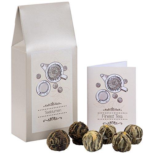 Levivo Surtido flores té caja regalo, regalo té