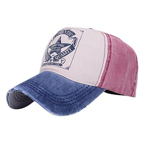 Gorras de Béisbol hip-hop Caps con Cinco Estrellas e Inglés Sombreros del estilo Retro ajustable Cartas Impreso Caps 5 colores...