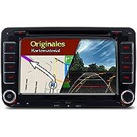 A-Sure 2 Din Bluetooth 3G DAB+ Autoradio Navi DVD GPS Radio RDS Für VW Passat Golf 5 6 Touran Tiguan Transporter Multivan T5 (mit vorinstallierter originaler Kudos Karte) Z5W7Q 2-Jahre-Garantie