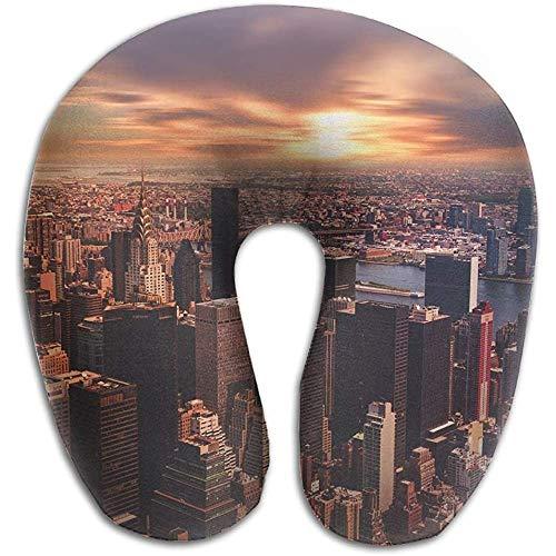 Pillow,Nueva York Travel Multifuncional Almohada En Forma De U para Tren Avión...
