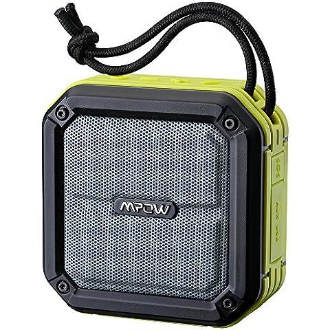 Altavoz Bluetooth Ducha IPX7 Impermeable,Mpow Altavoces Inalambricos Portátiles Estéreos con Botón de SOS para Caso de Emergencia,Potencia de 3W,Alcance de 10 metros,Fuerte Impulsor y Radiador de Baja Frecuencia Pasivo para un Sonido