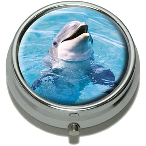 Dolphin Pill Case Trinket Gift Box by Graphics and More