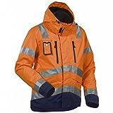 Blakläder 483719775389x L High Schrauben Regenjacke Class 3Größe XL orange/marine blau