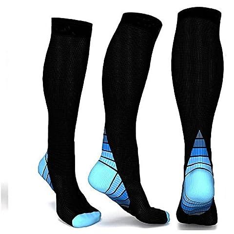 Chaussettes de compression pour homme et femme. Chaussettes de compression pour tous les sports, Flight, Air Travel, infirmière,
