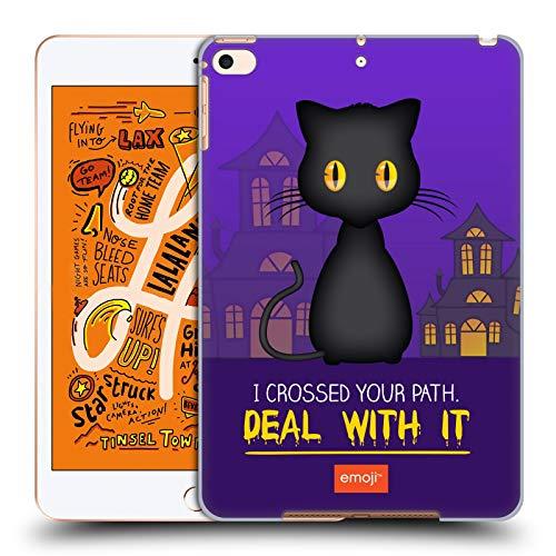 Head Case Designs Offizielle Emoji® Schwarze Katze Halloween Parodien Harte Rueckseiten Huelle kompatibel mit iPad Mini (2019)