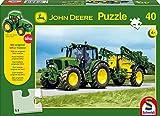 Schmidt Spiele 55625 - John Deere, Traktor 6630 mit Feldspritze, 40 Teile
