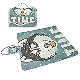 COOSUN Winter-Plakat mit Husky Picknickdecke Tote Handlich Mat schimmelbeständig und wasserfest Isomatte für Picknick, Strände, Wandern, Reisen, RVing und Ausgehen Mehrfarben