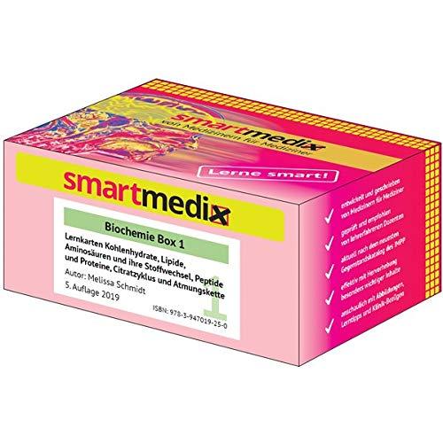 SmartMedix Lernkarten Biochemie Box 1: Kohlenhydrate, Lipide, Aminosäuren und ihre Stoffwechsel, Peptide und Proteine, Citratzyklus und Atmungskette