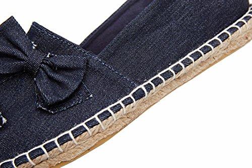 Femme chinoise classique en jute Flat Chaussures Navire Bowknot