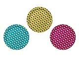 6 Pappteller Punkte Partyteller 3farbig sortiert 23cm