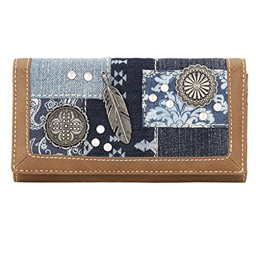 Banadana From American West  Êwomen's Wallet,  Damen Damen-Geldbörse, blau - Multi Indigo - Größe: One Size (Geldbörse American West)