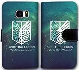 Custom Leder Flip Case für Samsung Galaxy S7Attack on Titan Logo Geldbörse Handyhülle rybd9298868