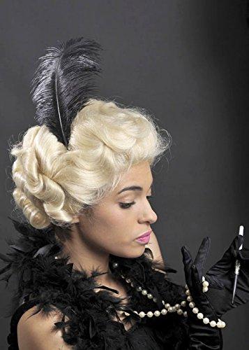Deluxe Blonde lockige 20er Jahre Charleston Glamour Perücke (1920er Jahre Perücke)