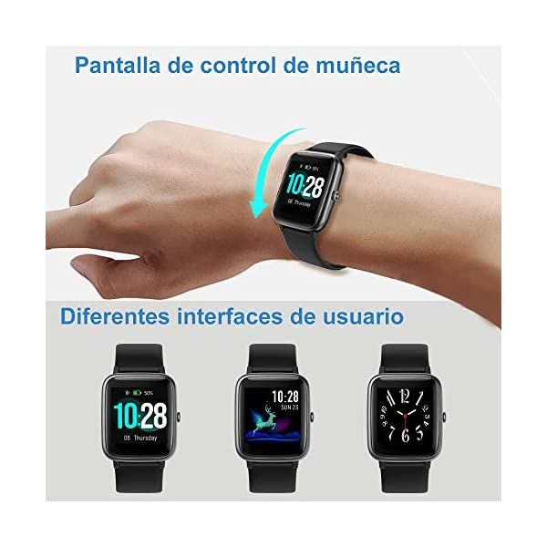 Willful Smartwatch,Reloj Inteligente con Pulsómetro,Cronómetros,Calorías,Monitor de Sueño,Podómetro Pulsera Actividad Inteligente Impermeable IP68 Smartwatch Hombre Reloj Deportivo para Android iOS 6