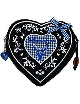 Damen Dirndltasche - Trachtentasche Herz Umhängetasche - Herztasche zum Dirndl