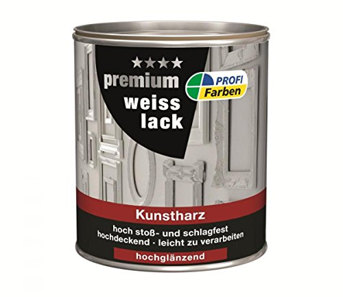 Kunstharz-Weißlack  <strong>Verbrauch</strong>   70 - 80 ml/m² je Anstrich