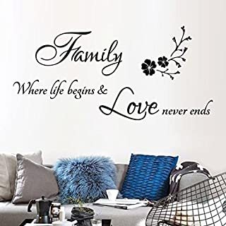 Sansee Family Removable DIY Art Vinyl Mural Home Living Room Decor Wall Stickers