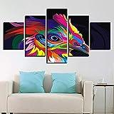 QIANG HD Gedruckt Modulare Huhn Bilder 5 Panels Bunte Vogel Gemälde Tier Leinwand Wandkunst Malerei Wohnzimmer Wohnkultur-