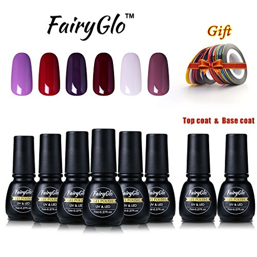 fairyglo-6-color-gel-nail-polish-uv-led-top-and-base-coat-soak-off-holographic-gorgeous-manicure-nai