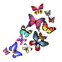 TAOtTAO 12PCS Color Simulation Butterfly Decoration Home Room Art 3D DIY Wall Stickers