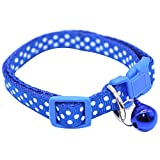 display08 Hundehalsband für Katzen, mit Schnalle und Punkten, verstellbar