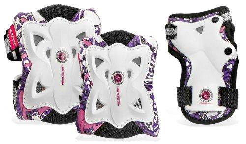 Powerslide Kinder Schoner Pro Butterfly Tri-Pack, Schwarz, XS, 906012