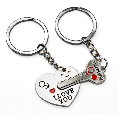 Smallwise Trading Couple Keychain Keyring ---