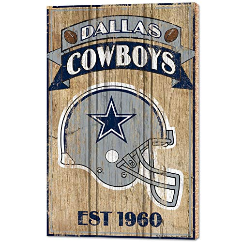Team Effort NFL Holzschild, 38,1 x 61 cm, Dallas Cowboys Wood Sign 15