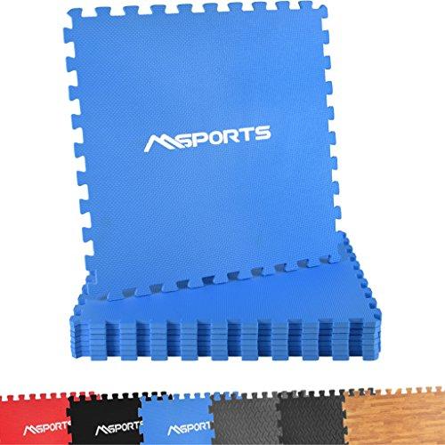 atten Set Premium - 8 Schutzmatten in verschiedenen Farben 3,175m² | Bodenschutz 60x60 cm | Stärke: 1,0 cm | Puzzlematten Gymnastikmatte (Blau) ()