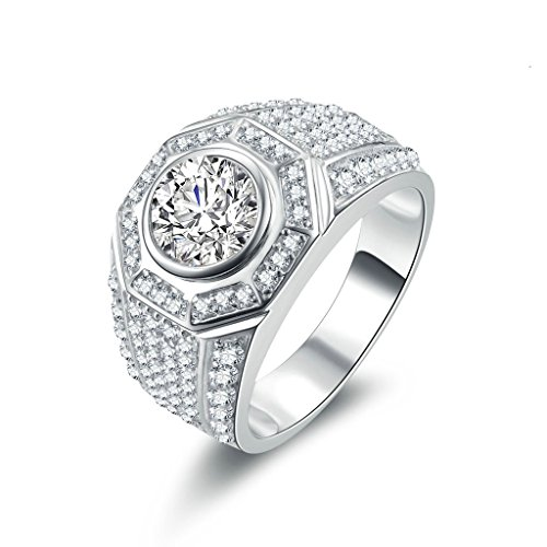 Anyeda Bulgari Ring 925 Damen Voll Von Cz Silber Ringe 67 (21.3)