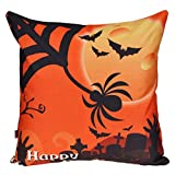 SEWORLD Halloween Kissenbezüge Leinen Baumwolle Sofa Kissenbezug Home Decor B