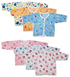 #6: Firstvibe Unisex Baby Regular Fit Jhabla - Pack of 6 (0 - 4 Months, Multi-Coloured)