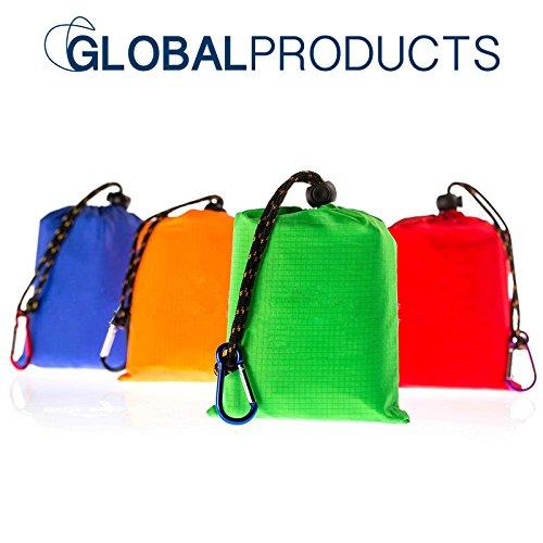 Outdoor XL Picknickdecke von globalproducts – Ultraleichte Stranddecke/Campingdecke, zusammenfaltbar auf Hosentaschenformat, wasserabweisende Outdoor Plane (Euro Tagesdecke)