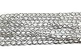 10 m con catena a maglia argentata 5 x 3 mm