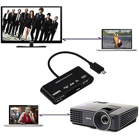 5in1 Micro USB MHL All'adattatore Di HDTV HDMI USB Kit