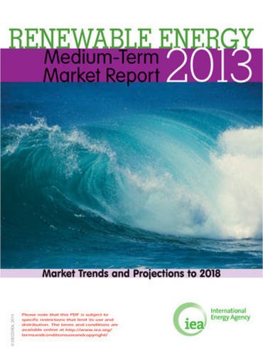Medium-Term Renewable Energy Market Report 2013 - Market Trends and Projections to 2018