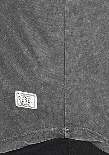 Redefined Rebel Myles Herren T-Shirt Kurzarm Shirt Rundhalsausschnitt Brusttasche Aus 100% Baumwolle Forged Iron