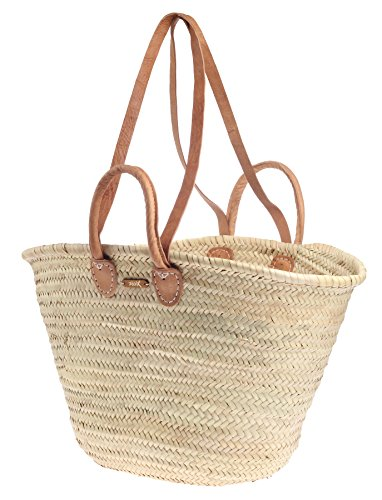 großer Ibizakorb von Felex Marktkorb Strandkorb Korb Einkaufstasche Tasche Einkaufskorb groß natur I 56 x 15 x 32 cm