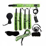 Bosiwe BDSM Sex Bondage mit Seile Handschellen Fußfesseln Fesselkreuz Bett Sets Fesseln Sexspielzeug Extrem für Schlafzimmerspaß (grün)