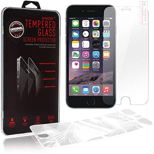 iPhone 6S/6S Plus, XAiOX anti-rayures Premium TPU Case pour iPhone 6Plus (5,5)/(4,7) PLATING Étui de protection en silicone Crystal Case Transparent + film de protection blindé en verre véritable argent