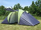 Zelt Kuppelzelt für 6 Personen mit 2 Schlafkabinen