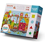 Crocodile Creek Shape Town, Early Learning Puzzle (24 Piece), Blue/Red/Yellow/Green