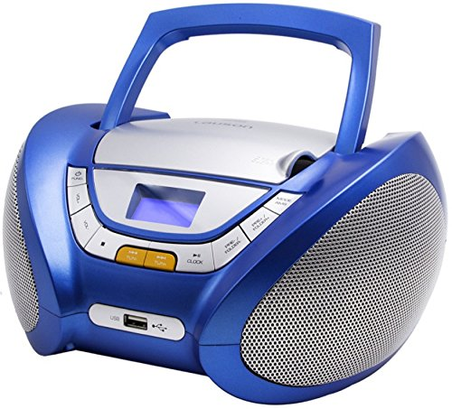 CD-Player | Tragbares Stereo Radio | Kinder Radio | Stereo Radio | Stereoanlage | Boombox | LCD-Display | USB-Anschluss | AUX IN | FM Radio (Mit Boombox Display)