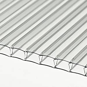 10 Sheets of Twinwall Polycarbonate Sheet 1422 x 730 x 4mm Greenhouse Glass