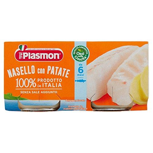 Plasmon Omogeneizzato di Pesce di Nasello e Patate 160 g