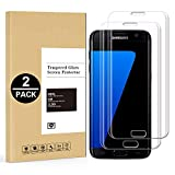 XTCASE Verre Trempé Samsung Galaxy S7 Edge [Lot de 2], Film Protection Ecran Vitre pour Samsung Galaxy S7 Edge [Dureté 9H] [Haut Définition Entièrement Transparent] Anti Rayure sans Bulles d'air
