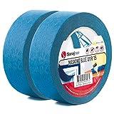 Sanojtape Professionelles UV-beständiges Abklebeband (2-Pack) Blau 38mm x 50m