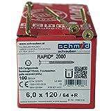 RAPID® 2000 Holzbauschraube 6.0 x 120 mm - 100 Stück