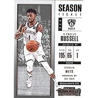 2017–18Dépasse Panini Season Ticket # 29d'angelo Russell Brooklyn Nets Basketball carte