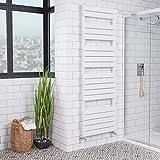 Sèche-Serviettes radiateur Plat Design Eau Chaude 1100 Watts 1800 x 600 Blanc Salle de Bains